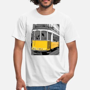 Tram Pop art Tram - Men's T-Shirt