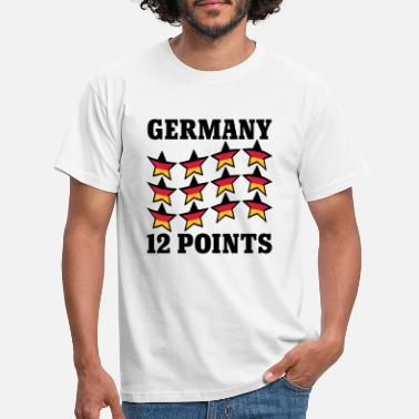 Eurovision Germany 12 Points | Stars | Stern | Deutschland | Flagge | Flag - Men's T-Shirt