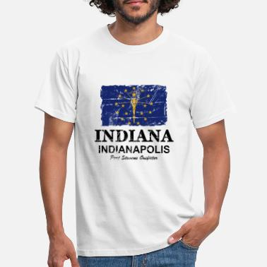 Indiana Indiana Flag - Indiana Flag - Mannen T-shirt