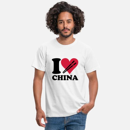 Asia T-Shirts - China - I love China - Men's T-Shirt white