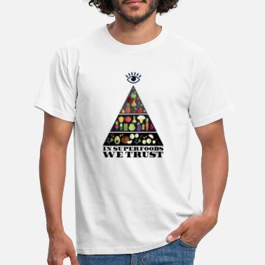 Free Masons In Superfoods we trust - Men's T-Shirt