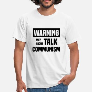 Verde Advertencia socialismo logo comunismo enlaces - Camiseta hombre