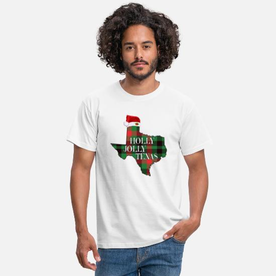 Alligator T-Shirts - Holly Jolly Texas - Men's T-Shirt white