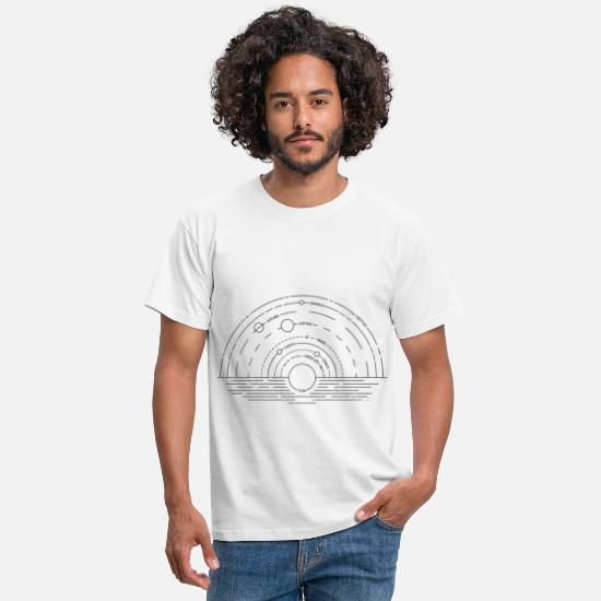 Space T-Shirts - Solar System Nerd Geek Shirt Astrophysics Physics - Men's T-Shirt white