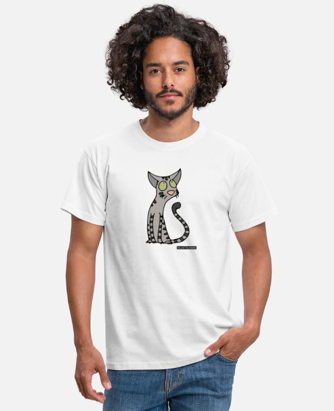 Spread T-shirts - Cat - Oosters Korthaar - Mannen T-shirt wit