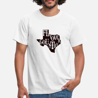 Countrymusic flyover country black - Men's T-Shirt