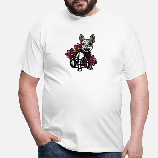 Tatouage Tribal Art Bouledogue Francais Crane T Shirt Homme Spreadshirt