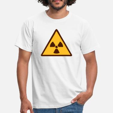 Radioaktiv radiation, tchernobyl, atom, nuclear weapon, war, techno, experiment, laboratory, atom, atomically, nuclear, radioactively, contaminated, warning, attention, caution, weapons, wave danger, dangerously  - T-skjorte for menn