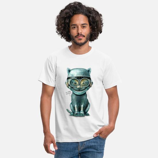 Cat T-Shirts - I'M STEEL CURIOUS - Men's T-Shirt white