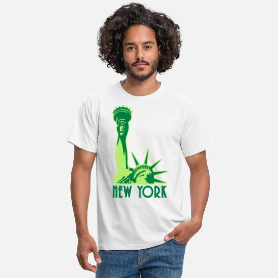 Freiheitsstatue T-Shirts - Liberty Enlightening the World, New York, NY, Freiheitsstatue, Statue of Liberty, www.eushirt.com - Männer T-Shirt Weiß