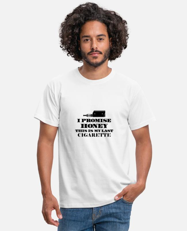 Hipster T-Shirts - The promise - Men's T-Shirt white