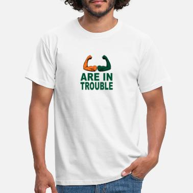College Football Les fans de football de sports de Miami engrenent slogan drôle - T-shirt Homme