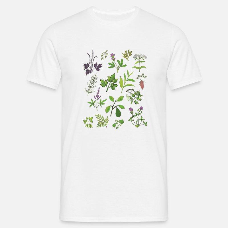 D'impression Ciel Shirt Homme Botanique Usine T SpGqUMzV