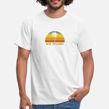 Paradise Vintage Big Island Beach Palm Tree Sunset Cool - Men's T-Shirt