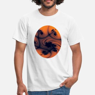 Oval Window Fraktal orange oval - T-shirt herr