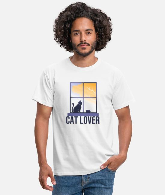Meow T-Shirts - Cat lover - Men's T-Shirt white