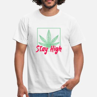Michelangelo Stay High Cannabis THC Smoke Weed - Männer T-Shirt