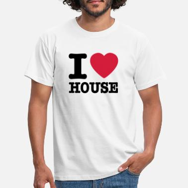 House i love house / I heart house - T-skjorte for menn