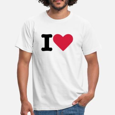 I Love I Heart - Männer T-Shirt