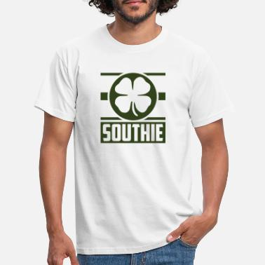 Boston Southie Shamrok Boston City Clover St Patricks Day - Men's T-Shirt