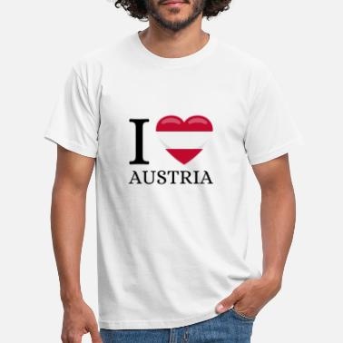 Solidarity I love Austria - Men's T-Shirt