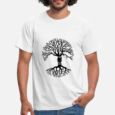 Arbre couple arbre de vie zen amour Tree of life noir - T-shirt Homme