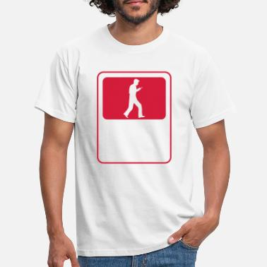 Distracted sign logo smartphone teenager boy man ges - Men's T-Shirt