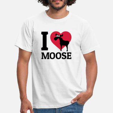 Moose I love Moose - Men's T-Shirt