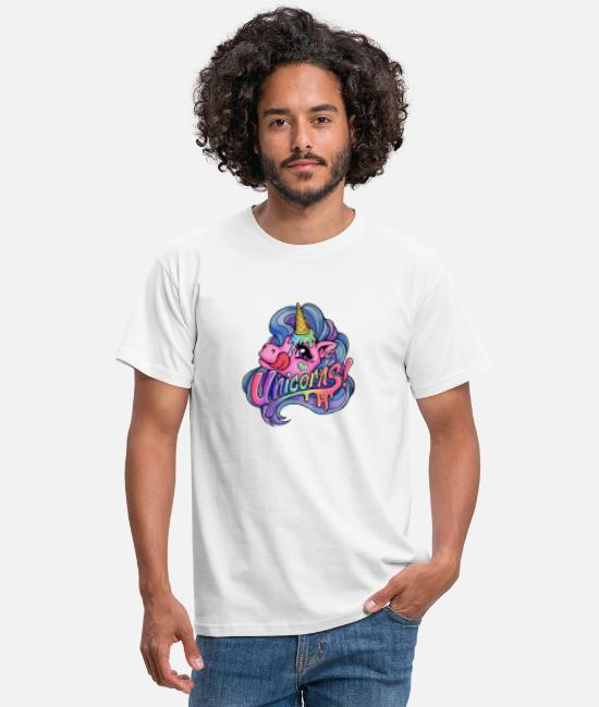 Gay Pride T-Shirts - Icy unicorn - Men's T-Shirt white