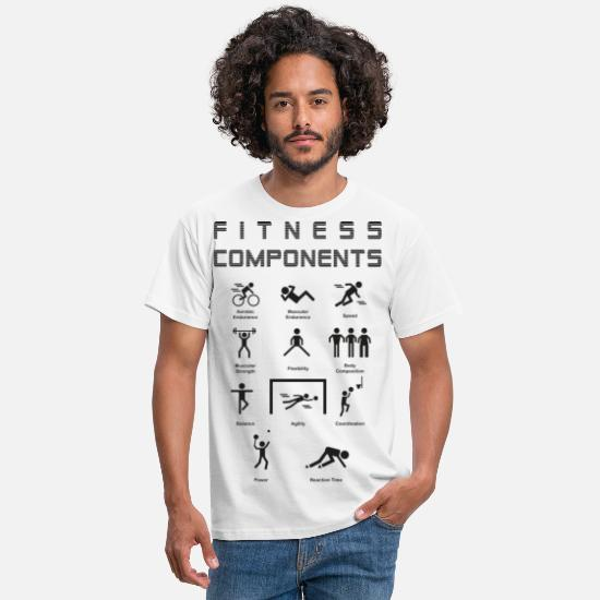 Components T-Shirts - Physical Education Fitness Components - Men's T-Shirt white