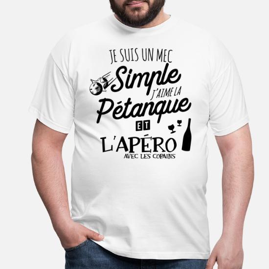 Spreadshirt Jaime La P/étanque Et LAp/éro T-Shirt Homme