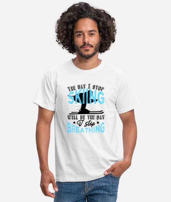 Ski T-Shirts - Funny skier saying winter - Men's T-Shirt white