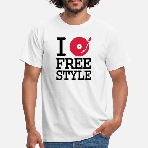 4a541fe96 I dj   play   listen to freestyle Camiseta hombre