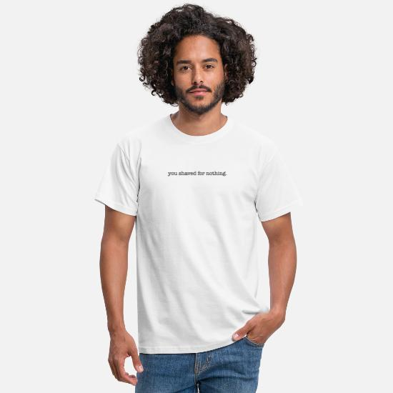 Funny Quotes T-shirts - BASS WATER - Mannen T-shirt wit