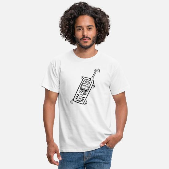 Birthday T-Shirts - Phone Graphic Phone Cell Pocket - Men's T-Shirt white