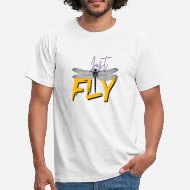 Just Fly Just FLY - DRAGONFLY - Yellow Purple - T-skjorte for menn
