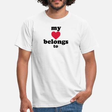 Land my heart belongs to + text - T-shirt herr