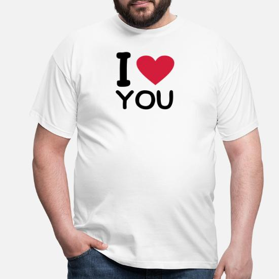 882ed0cfe82 I love you T-shirt mænd | Spreadshirt