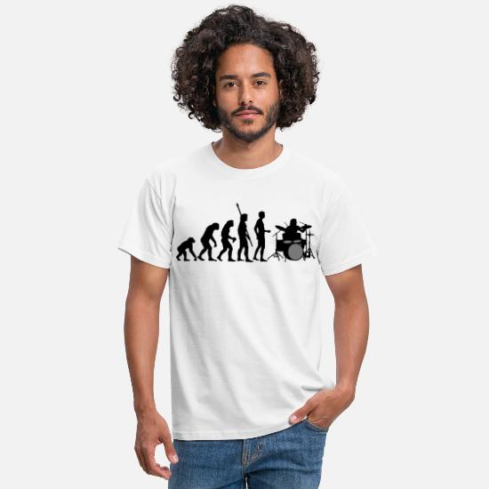 Batterie T-shirts - evolution_drummer_b_2c - T-shirt Homme blanc