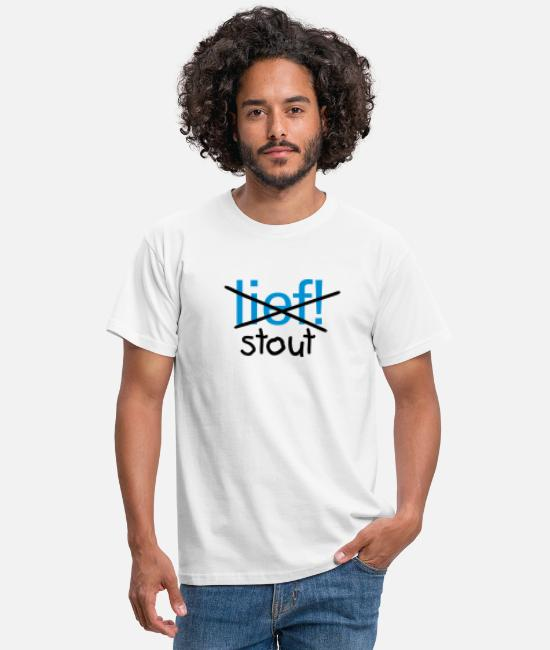 Stoute T-shirts - STOUT - Mannen T-shirt wit