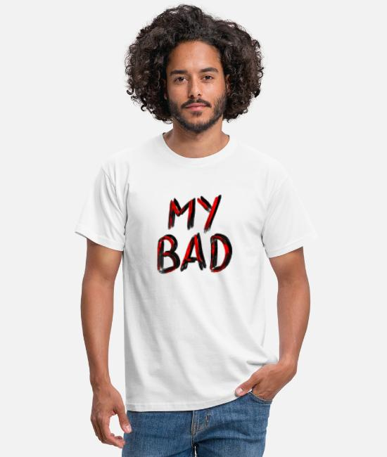 Hardstyle T-Shirts - My Bad // Red Black - Men's T-Shirt white