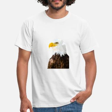 Bald Eagle in low poly - Mannen T-shirt