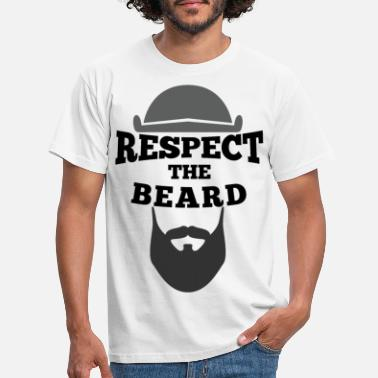 Respect Respect the beard - Men's T-Shirt