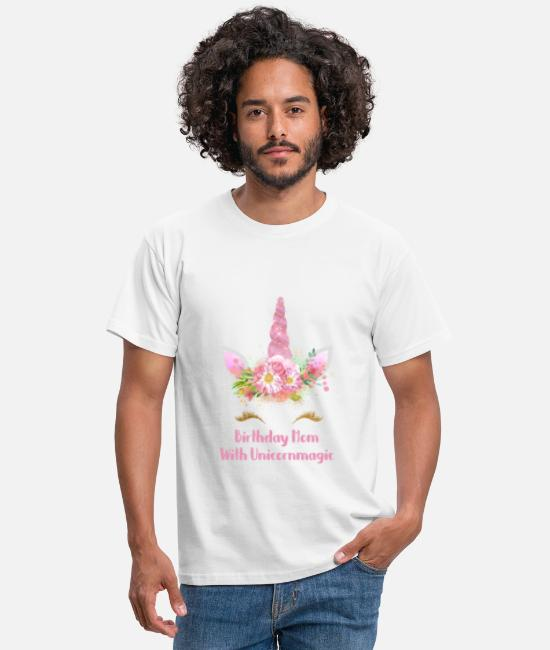 Abuela Camisetas - Unicorn Birthday Mom Rainbow Shirt Gift - Camiseta hombre blanco