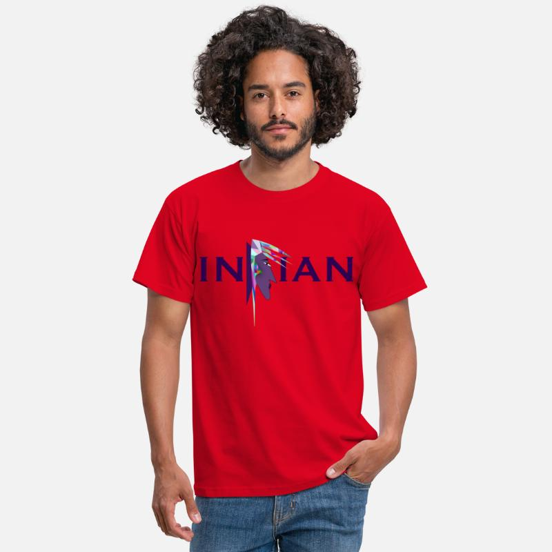 Indianere fargerike T skjorte for menn | Spreadshirt