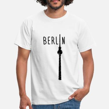 T-Shirt Berlin City BLNHerren kurzarm schwarzRundhals Ausschnitt