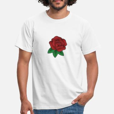 Rote Rose Rote Rose - Männer T-Shirt