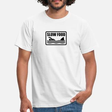 Lecker slow food  - Männer T-Shirt