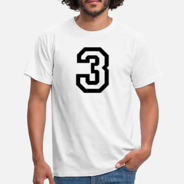 Number number - 3 - three - Men's T-Shirt
