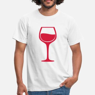 Individualisiert Wine glass - Männer T-Shirt